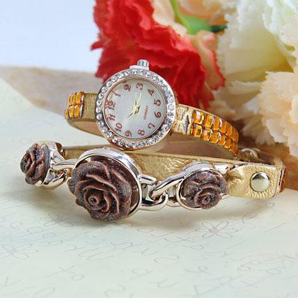 Gold Braided Fashion Watch