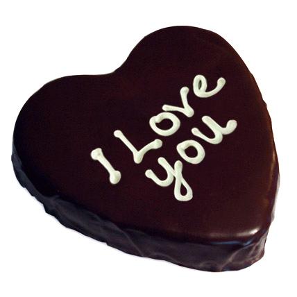Heart Chocolate Cake Half kg