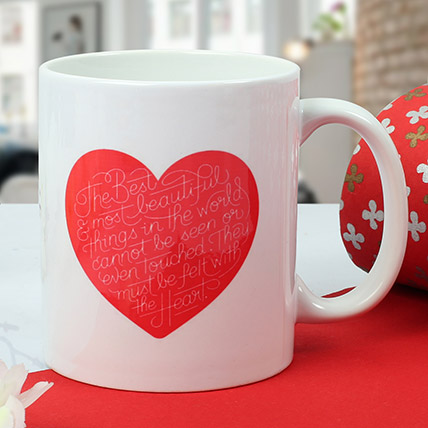 Heart Printed Ceramic Mug