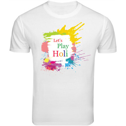 Holi Special T Shirt Large