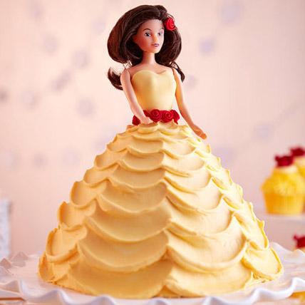 Lovely Barbie Cake Vanilla 2kg Eggless