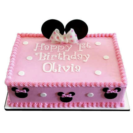 Lovely Pink Minnie Mouse Cake 1kg Vanilla
