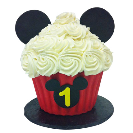 Mickey Mouse Floral Cupcake 24