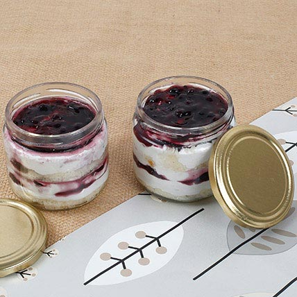 Mysterious Blueberry Jar Cake Set of 4