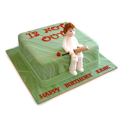 Not Out Cricket Cake 2kg Eggless