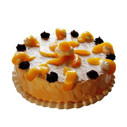Orange Trickle Cake Half kg Eggless
