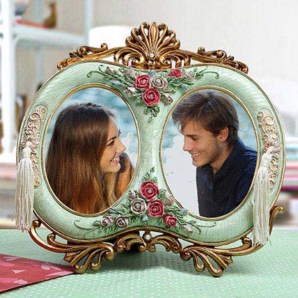 Personalised Antique Duo Photo Frame