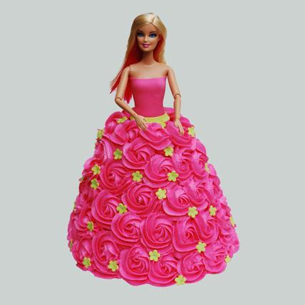 Pink Barbie Cake Truffle 2kg Eggless