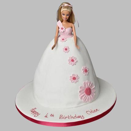 Pristine White Barbie Cake 3kg