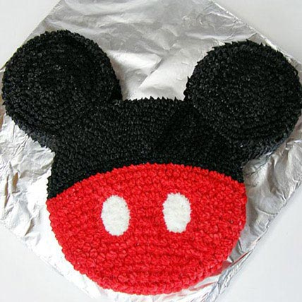 Red N Black Mickey Mouse Cake 4kg