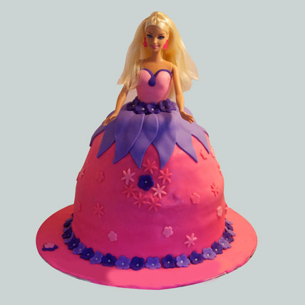 Royal Barbie Cake 2kg Chocolate