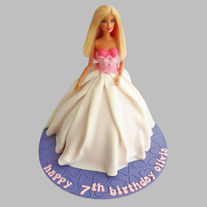 Sober Barbie Cake 3kg Eggless