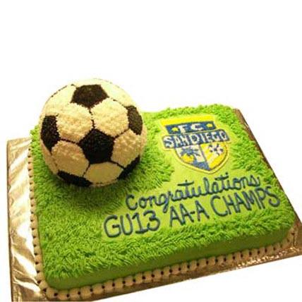 Soccer Cake 2kg Eggless