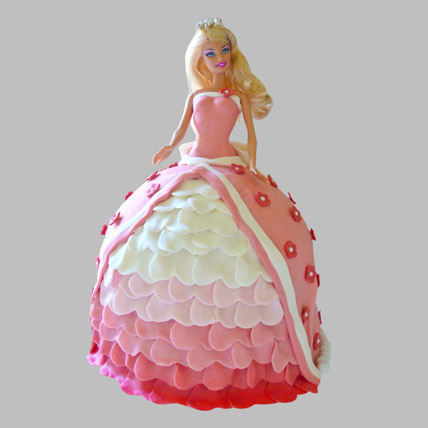 Style Queen Barbie Cake 3kg Eggless