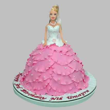 White N Pink Barbie Cake 3kg