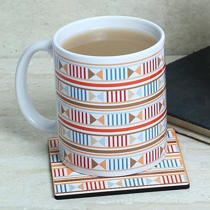 White Printed Love Mug