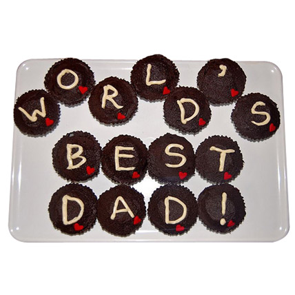 Worlds Best Dad Cupcakes 15 Eggless