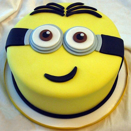 Yellow Minion Cake 3kg Eggless