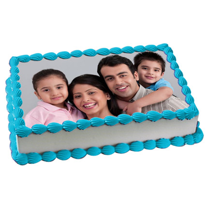 Yummy Vanilla Photo Cake 3kg Eggless