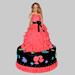 Wavy Dress Barbie Cake 3Kg Chocolate