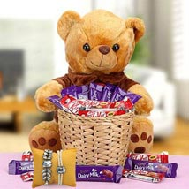 A Basket Loaded with Happiness with Rakhi: