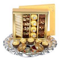 Assorted Sweet Thali UAE: Bhai Dooj Sweets to UAE