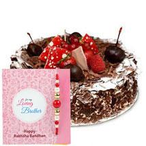 Blackforest Cake with Rakhi: