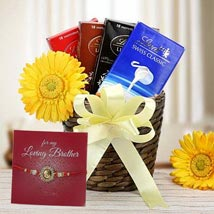 Choco Hamper with Rakhi: Send Rakhi to Fujairah