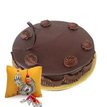 Eggless Chocolate Truffle with Rakhi: Send Rakhi to Al Ain