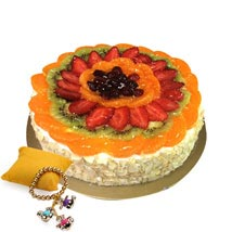 Fruit Cake with Rakhi: Send Rakhi to Fujairah