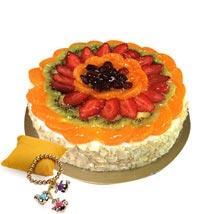 Fruit Cake with Rakhi: Send Rakhi to Al Ain