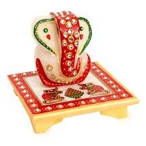 Marble Ganesha On A Chowki: Diwali