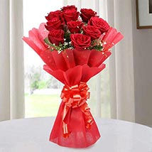 Red Roses Bouquet of Love: