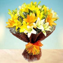 Sunny Asiatic Lilies: Birthday Gift Delivery in UAE