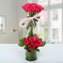 Two Storied Floral Arrangement: Valentines Day Gifts for Her