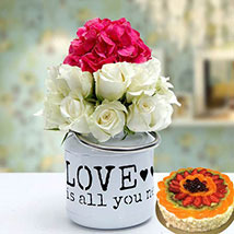 Unique Gift Combo: Birthday Flowers and Cakes to UAE