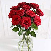 A Dozen Burgundy Roses: House Warming Flowers to UK