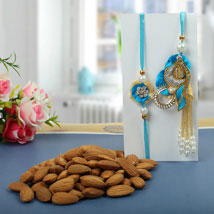 Almond nuts Rakhi Hamper: Rakhi to London Boroughs