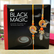 Assorted dark chocolates bhaiya bhabhi Rakhi Set: Send Rakhi to London Boroughs