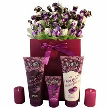 Deep purple with spa: Send Gifts to Leeds