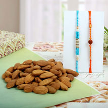 Diamond Rudraksh with Almond Nuts: Send Rakhi to London Boroughs