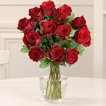 Dozen Red Fairtrade Roses: House Warming Flowers to UK
