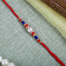 Elegant Red blue Rakhi: Send Rakhi to London Boroughs