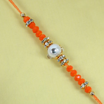 Fancy Orange Diamond Rakhi: Send Rakhi to London Boroughs