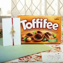 Hazelnut Toffiee Diamon Square Rakhi: Rakhi to London Boroughs