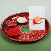 Kids Ganesh Rakhi and PujaThali: Rakhi to London Boroughs
