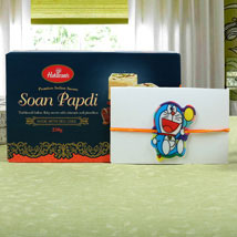 Kids Rakhi Doraemon with Sweet: Rakhi to London Boroughs