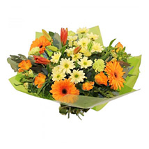 Oranges and Yellows: Flower Bouquets to UK