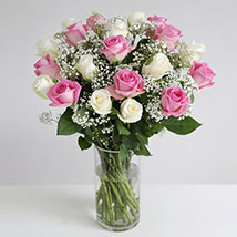 Pastel Fairtrade Roses: Flower Bouquets to UK