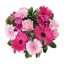Pink Baby Girl Bouquet: Flower Bouquet Delivery in UK